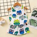 Новинка, пижамный комплект без рукавов для маленьких мальчиков, Детская Пижама, пижама с единорогом для девочек, летняя Пижама для детей