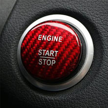 Кнопка запуска двигателя автомобиля Стайлинг чехла из углеродного