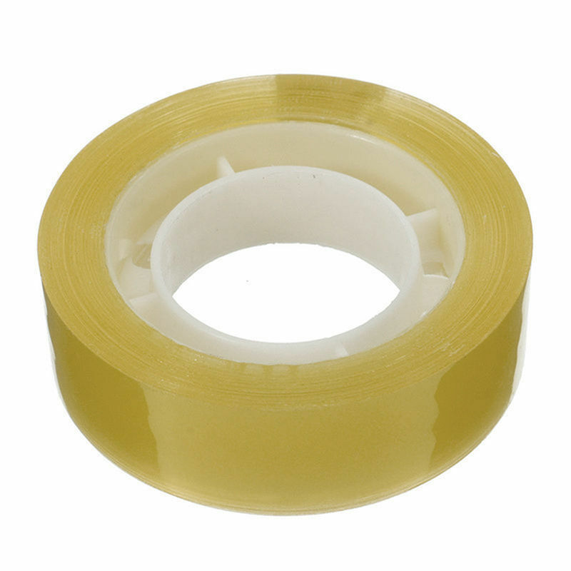 Прозрачная Лента 18 мм * 20 м не меняет цвет желтая влагостойкая