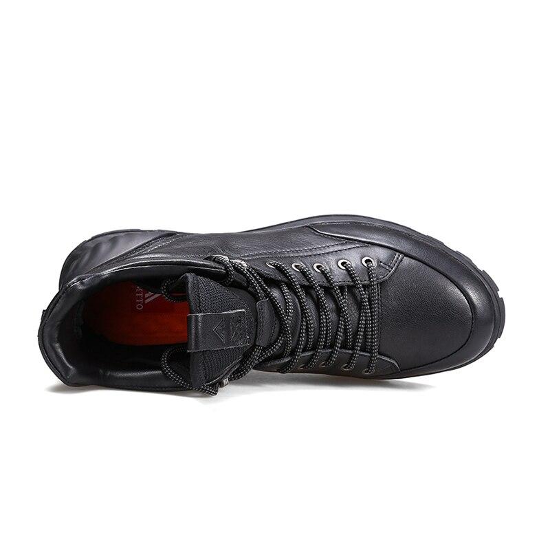 Зимние ботинки из натуральной кожи; мужские ботинки; модная обувь; мужская повседневная обувь в деловом стиле; зимние ботинки; zapatos de hombre - 3