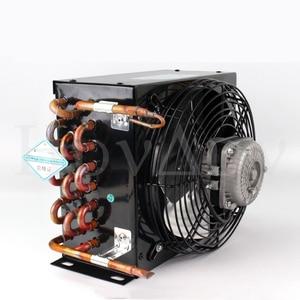 3.4 Condenser copper tube aluminum fin air-cooled water-cooled refrigerator freezer freezer refrigeration equipment radiator
