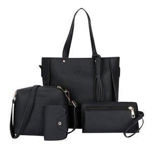 Image 1 - JIULIN 4 шт Женская сумка набор Модный женский кошелек и сумка четыре части сумка через плечо сумка тоут сумка мессенджер Прямая доставка