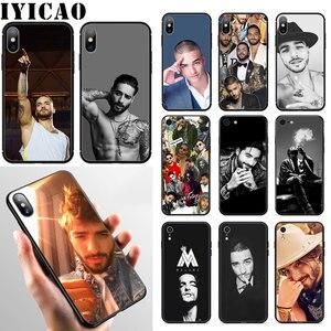 IYICAO Singer Maluma Новый мягкий чехол для телефона iPhone XR X XS Max 6 6S 7 8 Plus 5 5S SE чехол
