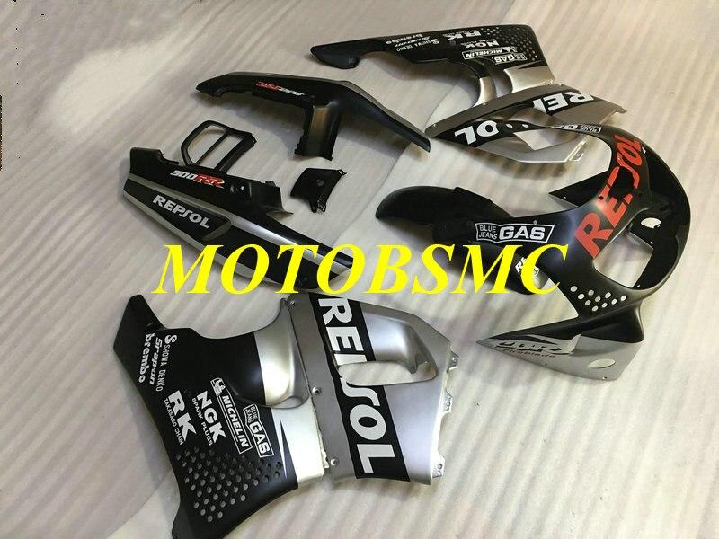 Motorcycle Fairing Kit for CBR900RR 893 96 97 CBR 900RR CBR900 RR 1996 1997 ABS Silver Black Bodywork+Gifts HI43