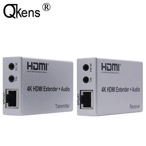 Image 1 - 4K HDMI extensor 100M R/L de salida de Audio de la señal HDMI extensión por Cat5E CAT6 RJ45 Ethernet Cable de vídeo convertidor TX RX de la PC a TV HDTV