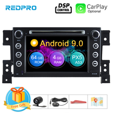 цена на Android 9.0 Car Radio DVD Player For Suzuki Grand Vitara 2006 2007 2008 2009 2010 Audio Navigation GPS Multimedia Radio Stereo