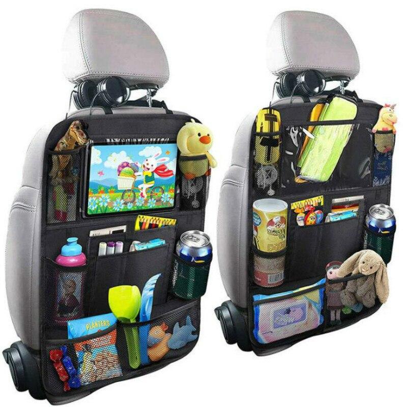 Модный удобный органайзер для заднего сиденья автомобиля, многокарманная сумка для хранения, чехол, сумка для хранения автомобиля, держате...