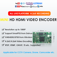 H.265 H.264 1080P 50fps Mini HDMI Video Encoder To CCTV Camera Camcorder Drone Medical Equipment TVBox for Live Broadcasting