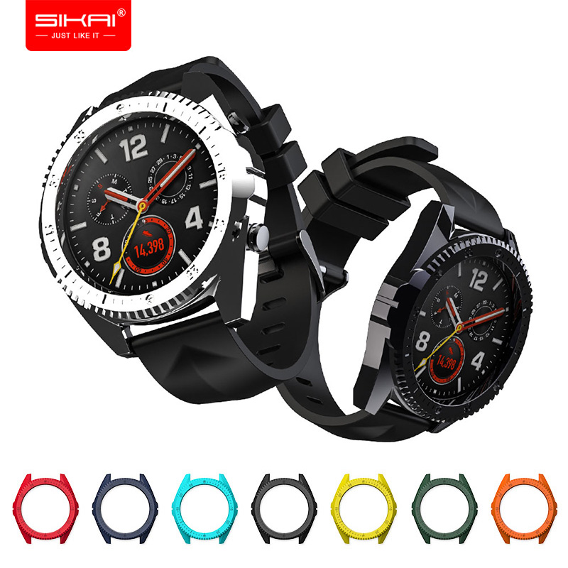 Covers For Huawei Watch GT Tough Armor Colourful PC Shell Protector Sport Accessories SIKAI Smart Watches Cases