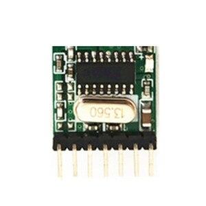 Image 4 - 433MHz drahtlose empfänger und fernbedienung transmitter learning code 1527 decodierung modul 4 kanal ausgang mit lernen taste