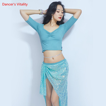 Women Belly Dance Practice Clothes Spring And Summer New Sequin Skirt Sexy Jacket Costume Suit Oriental Competition Set - discount item  22% OFF Stage & Dance Wear