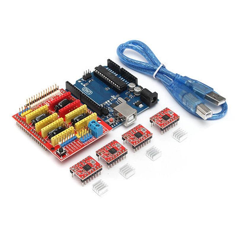 3D Printer Board Kit For Arduino CNC Shield V3+UNO R3+A4988x4 GRBL Compatible