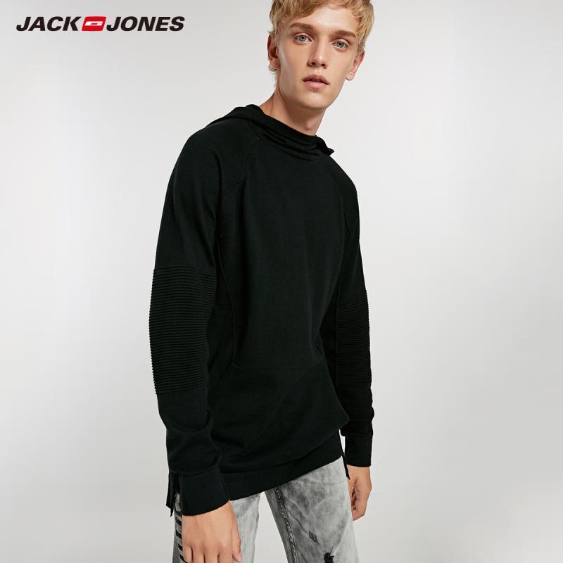 JACK /& JONES HOODIE PULLOVER SWEATSHIRT MEN HOODED JUMPER BLACK NAVY GREY M L XL