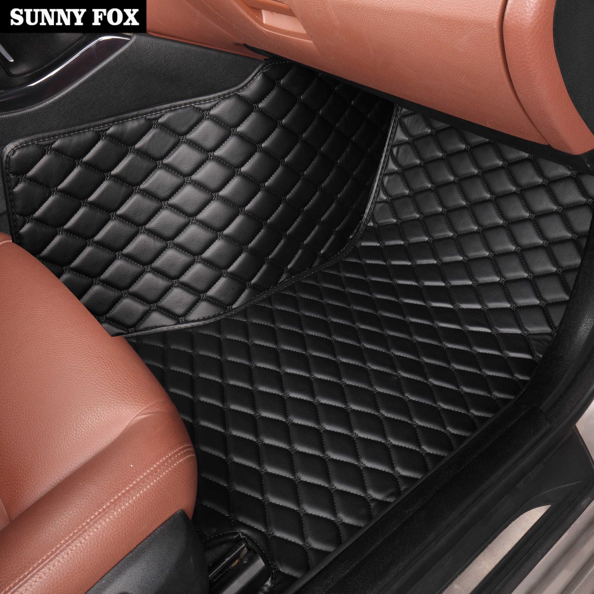 車のフロアマットフォードフィエスタ Mk7 エッジエスケープ久我融合モンデオ Ecosport エクスプローラーフォーカス 5D 車スタイリング敷物ライナー