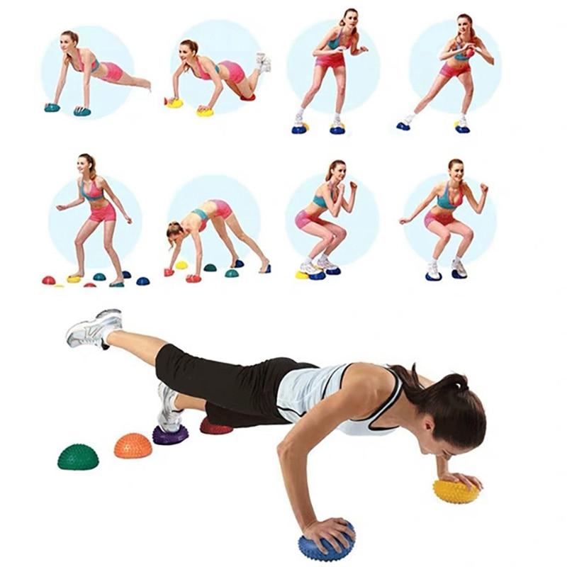 Yoga Foot Half Round Massage Ball Cushion Spiky Balance Ball Domed Stability Pods Balance Fitness Hemisphere