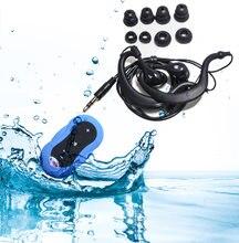 Reproductor de MP3 impermeable IPX8, dispositivo deportivo subacuático, 4GB/8 GB/16 GB, Radio FM, natación, auriculares, reproductor de música, novedad 003