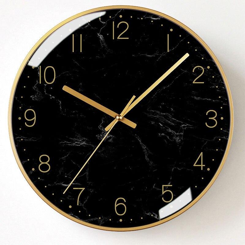 Minimaliste nordique horloge murale créatif silencieux cuisine salon horloges Design moderne élégant Relogio Parede Decoracion SS50WC - 6