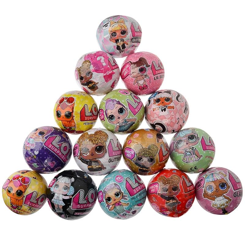 LOL Surprise Little Sister Lol Pets Dolls Toys Lol Girl LOL Dolls Egg Baby Doll Ball Blind Box Toys For Children Christmas  Gift