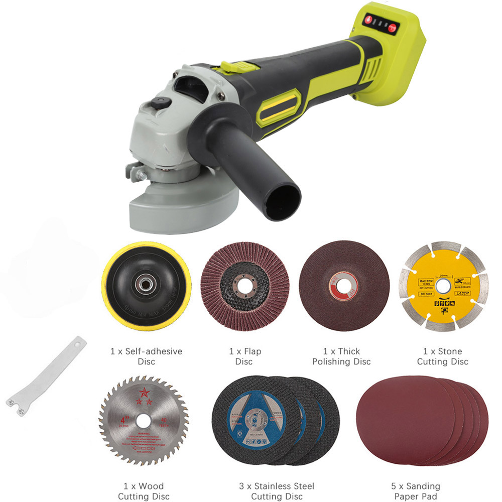 8000rpm Cordless Angle Grinder Brushless Polisher Grinding Metal Cutter Rechargeable Grinder Without Battery