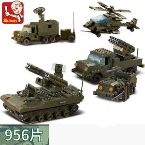 Image 4 - Military Tank Car Truck Plane Spaceship WW 2 Army Figures Series Set Soldier Weapon Building Blocks Bricks Model Toys Boy Gifts