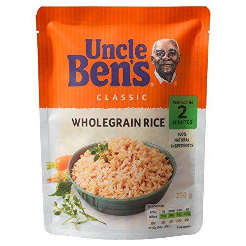 Micro-Ondes Classique Grains Entiers 250G De Riz Uncle Ben - Paquet De 6