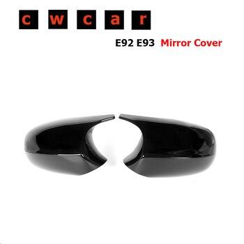 High Quality ABS Gloss Black Carbon Fiber M3 Look Mirror Cap For BMW 3 Series E90 E91 2008-2011 E92 E93 2010-2013 Rear Cover