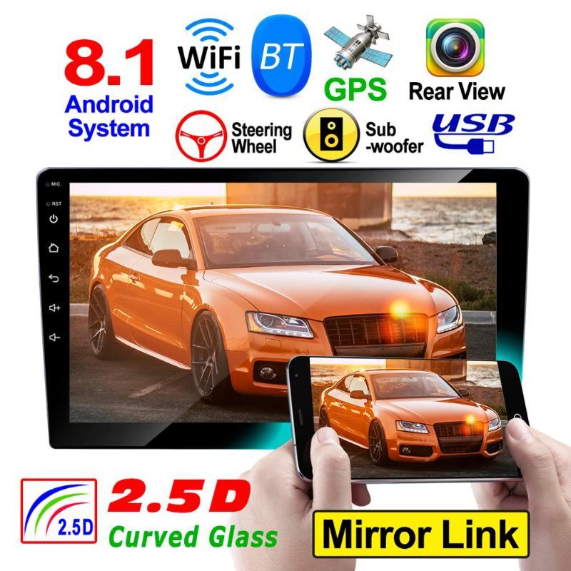 RK-A709 Android 8.1 2 DIN voiture dans le tableau de bord stéréo BT GPS WiFi FM MP5 lecteur universel intégré Module de Navigation GPS Radio AM/FM