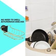 1PC Stainless Steel Faucet Sponge Hanging Basket Water Tap Clip Bathroom Kitchen Dishcloth Shelf Drain Dry Towel Supplies