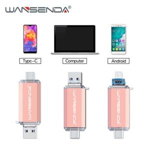 Image 3 - Флеш накопитель Wansenda OTG 3 в 1, USB 512, Type C и Micro USB, 256 ГБ, 128 ГБ, ГБ, 64 ГБ, 32 ГБ, 16 ГБ, флеш накопитель USB