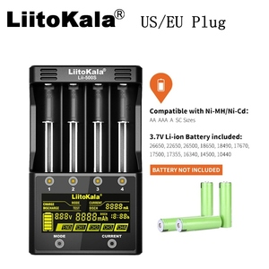 Image 2 - LiitoKala lii 500S 18650 شاحن بطارية الولايات المتحدة/الاتحاد الأوروبي التوصيل شاشة LCD عرض ليثيوم/نيمه 26650 AA ، AAA التحكم باللمس أربعة تيارات