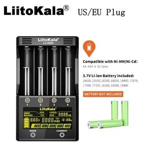 Image 2 - Liitokala lii 500S 18650 carregador de bateria eua/ue, plugue de display lcd de lítio/nimh 26650 aa, controle de toque aaa de quatro curvas