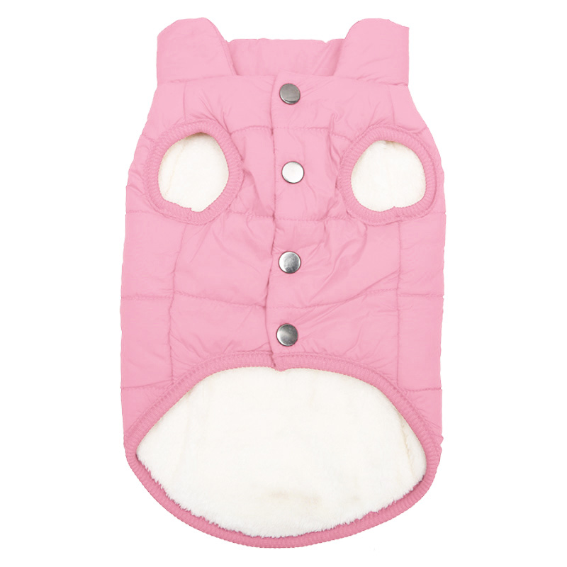 Fleece Dog Jacket in Button Closure Design For Small/Medium/Large Dogs 4