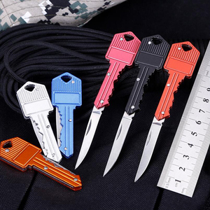 Keyring Ring Mini Key Knife Multi Fruit Blade Keychain Fold Pocket Box Package Camp Peeler Outdoor Letter Open Peeling Survive