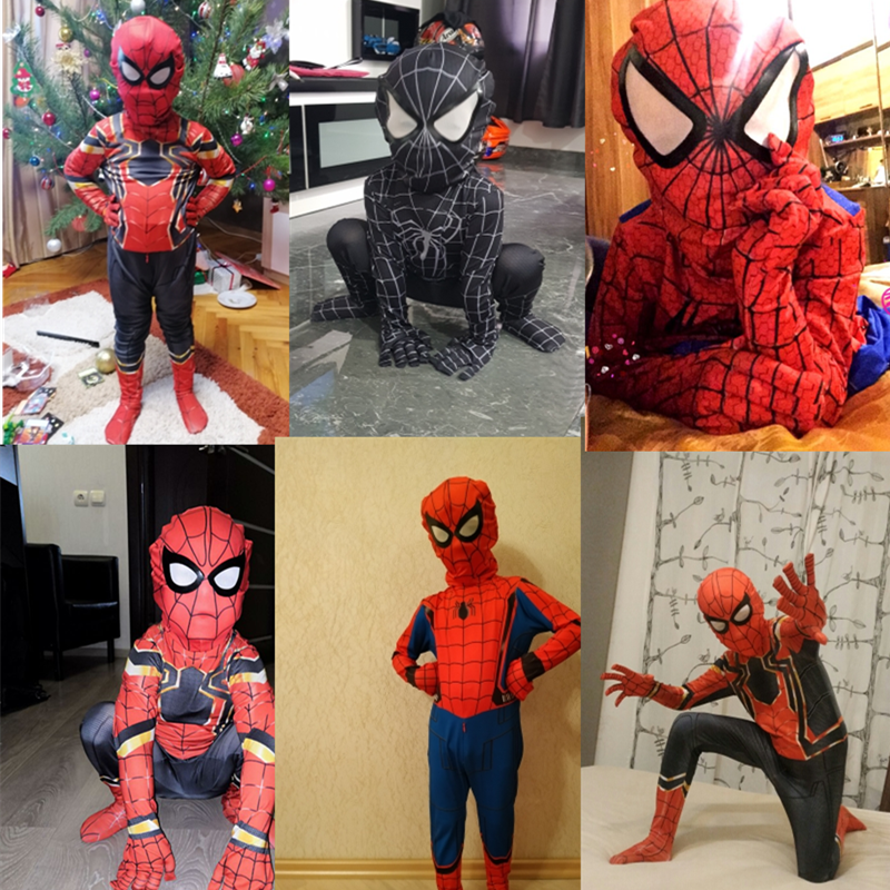 Extraordinary Spider-Man Pantyhose Children's Heroes Returned Siamese Anime Cosplay Costumes and Masks 6