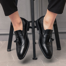 2020 Shoes Men Formal Tassel Pointed Comfortable Loafers Male Wedding Party Flat Plus Size 38-48