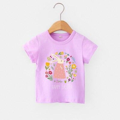 H91c3e280a6dd4c8c93d756c9e467101cX VIDMID Baby girls t-shirt Summer Clothes Casual Cartoon cotton s tees kids Girls Clothing Short Sleeve t-shirt 4018 06