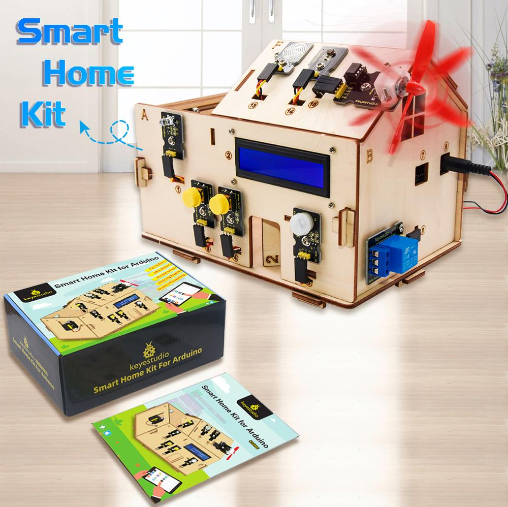 Electrical Engineering KEYESTUDIO Smart loT Home Kit for Arduino Stem Learning Internet of Things Code Educational Coding for Kids Teens Adults Mechanical Building