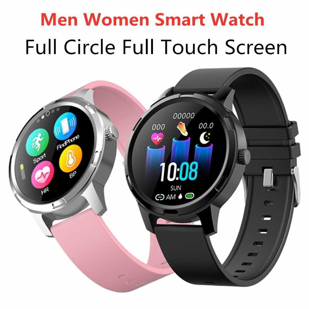 Full Touch Screen สมาร์ทนาฬิกาสำหรับ Apple iOS โทรศัพท์ Android Sleep Heart Rate Monitor กีฬากันน้ำ Smartwatch สุขภาพผู้หญิงผู้ชาย