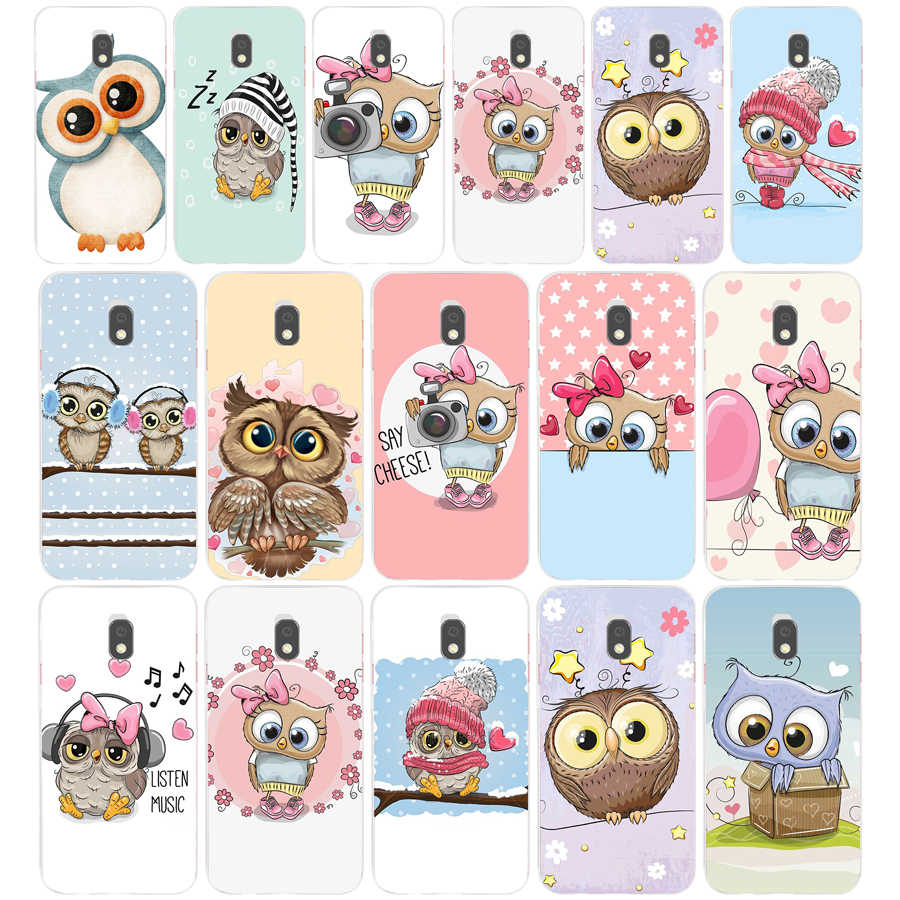 29AA Cute Owl Hearts Lover Christmas Soft Silicone Tpu Cover phone Case for Samsung Galaxy J2 J4 Prime J6 Plus J7 2016 2017 case