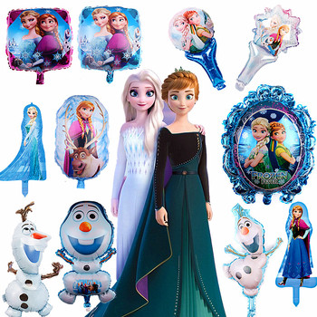 цена на Frozen Elsa and Anna Princess Balloon Olaf Balloon Party Supplies Birthday Party Decorations Aluminum Foil Balloon Baby Shower