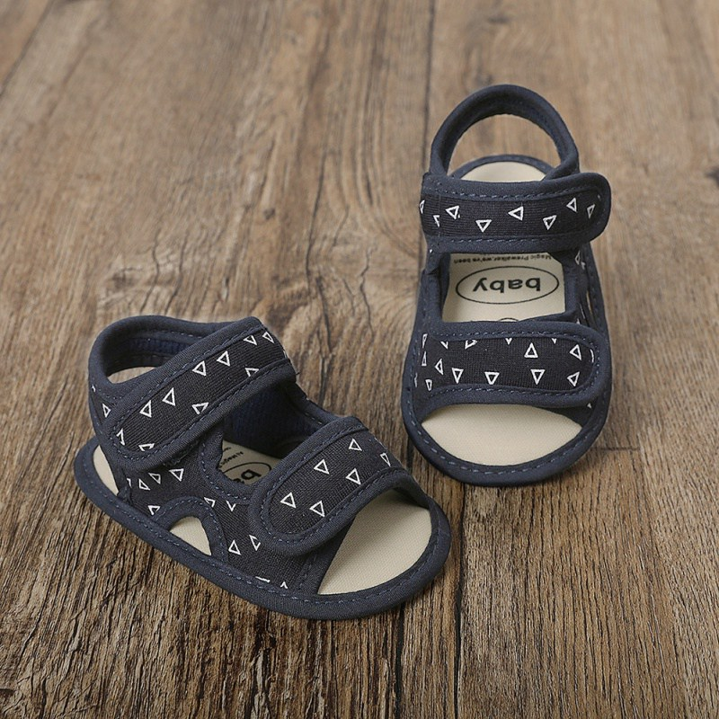Baby Boys Summer Shoes Breathable Canvas Anti-Slip Sandals Toddler Soft Soled First Walkers Shoes 0-18M NO.5