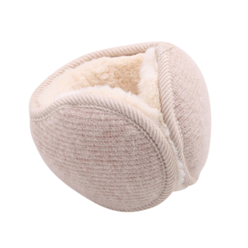Best Selling Men Women Earmuffs After Wearing Folded Plush Casual Wild Solid Color Warm Earmuffs Simple Fashion Winter Gifts
