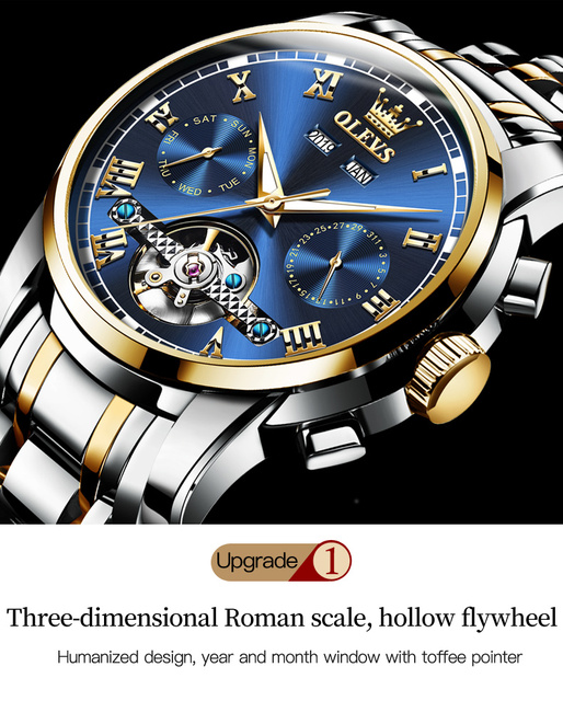 2PCS His And Her Luxury Gifts Couple Watches Women's Men Automatic Mechanical Sapphire Crystal Wristwatch For Valentine's Day 2