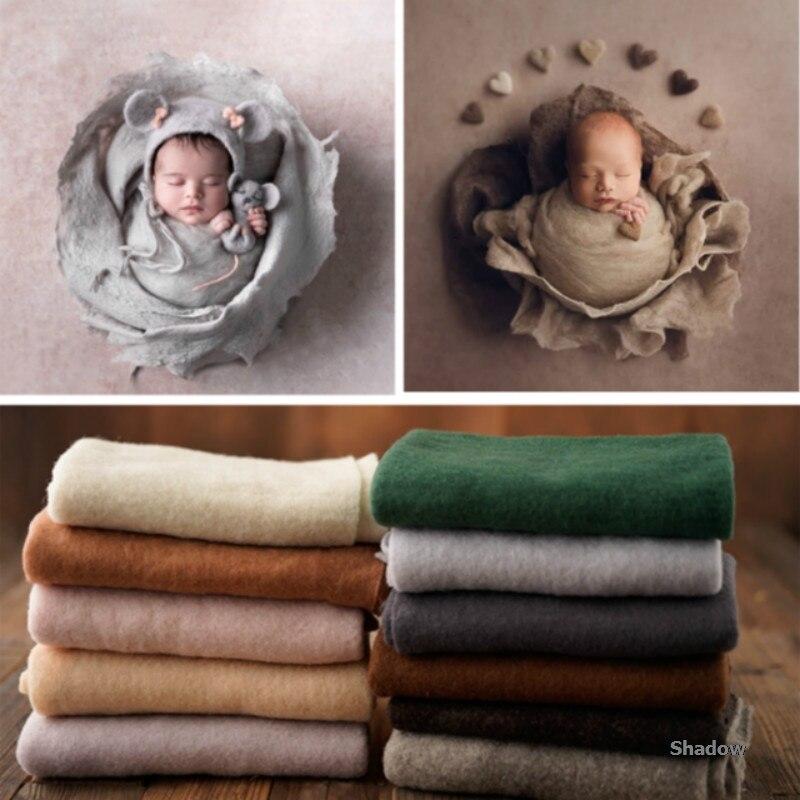 Nouveau-né photographie accessoires feutre couvertures bébé Photo couvertures infantile Photo Shoot accessoires modélisation couvertures belle Photo effet