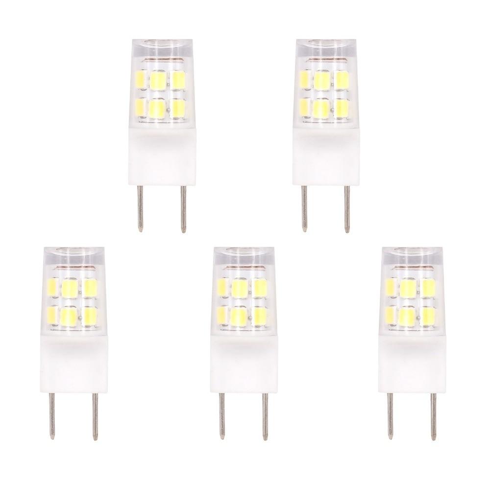 5pcs 2w G8 Led Bulb Light 110v 120v 2835 Smd Leds Lamp 20w Halogen Bulb Replacement Warm White Pure White Led Bulbs Tubes Aliexpress