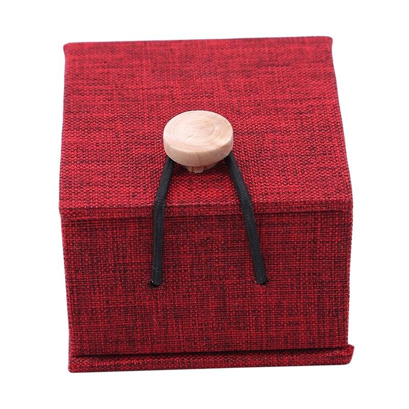 Personalized Rustic Wedding Wood Ring Box Holder Gift Box Custom Wedding Ring Bearer Square Jewelry Box