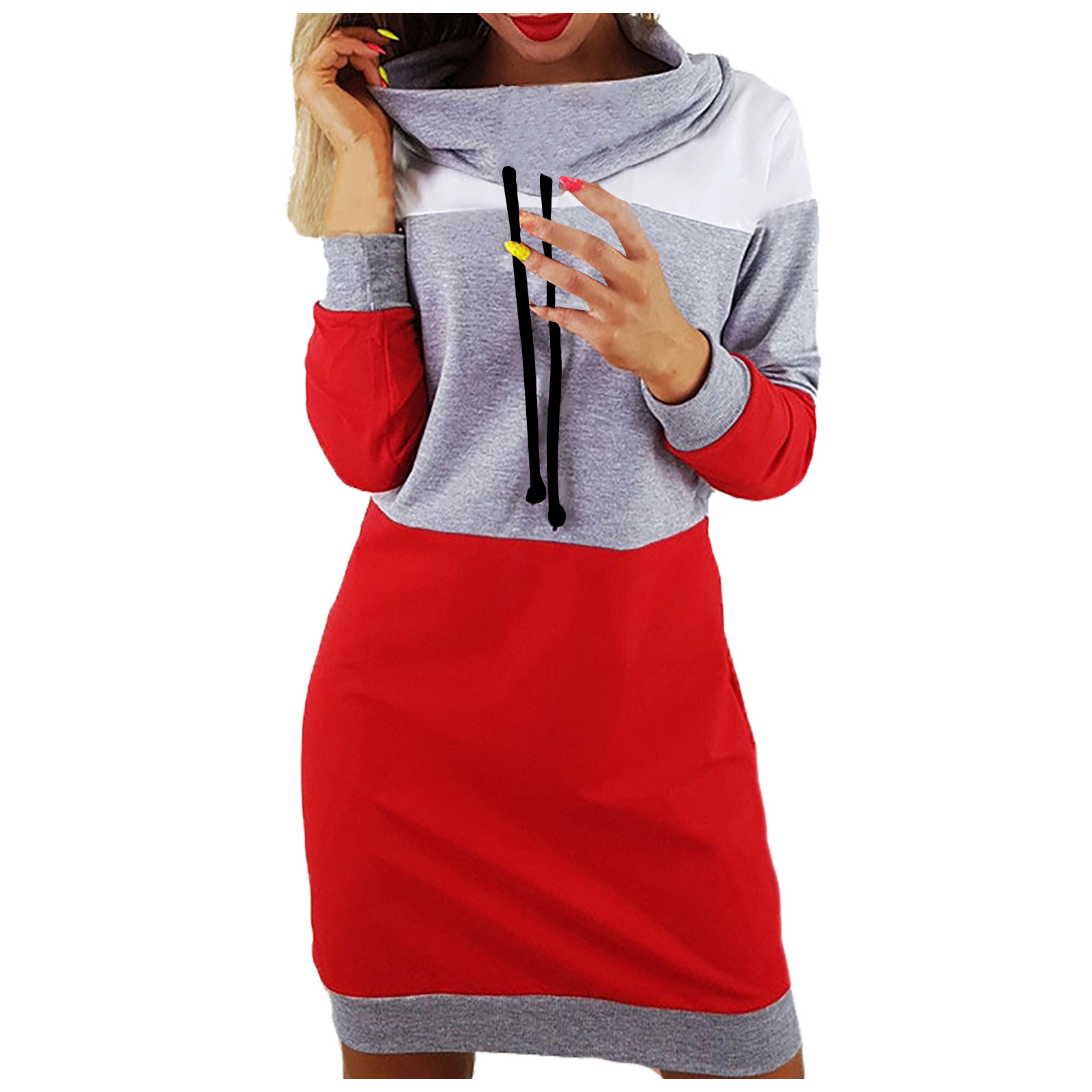 vestido de mujer Women Collared Long Sleeve Dress Ladies Casual Bodycons Short Mini Sundress femme robe