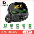 Автомобильное зарядное устройство FLOVEME  USB для телефона  Bluetooth  беспроводной fm-передатчик  mp3-плеер  двойное USB зарядное устройство  tf-карта  му...