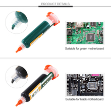 UV Light-sensitive Curable Soldering Paste PCB Circuit Board Paint Welding Fluxes Oil Insulating Protective Paint With Needle