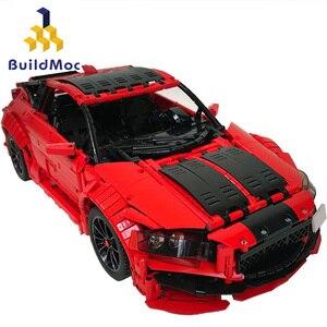 Buildmoc lepining Technic Series-HondaCR-Z спортивный автомобиль Строительные блоки Набор кирпичей совместимые 21004 Развивающие игрушки для детей